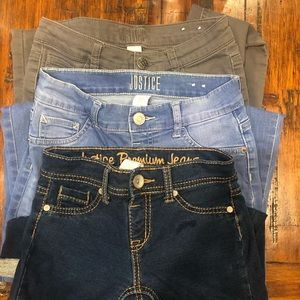 Justice girls denim